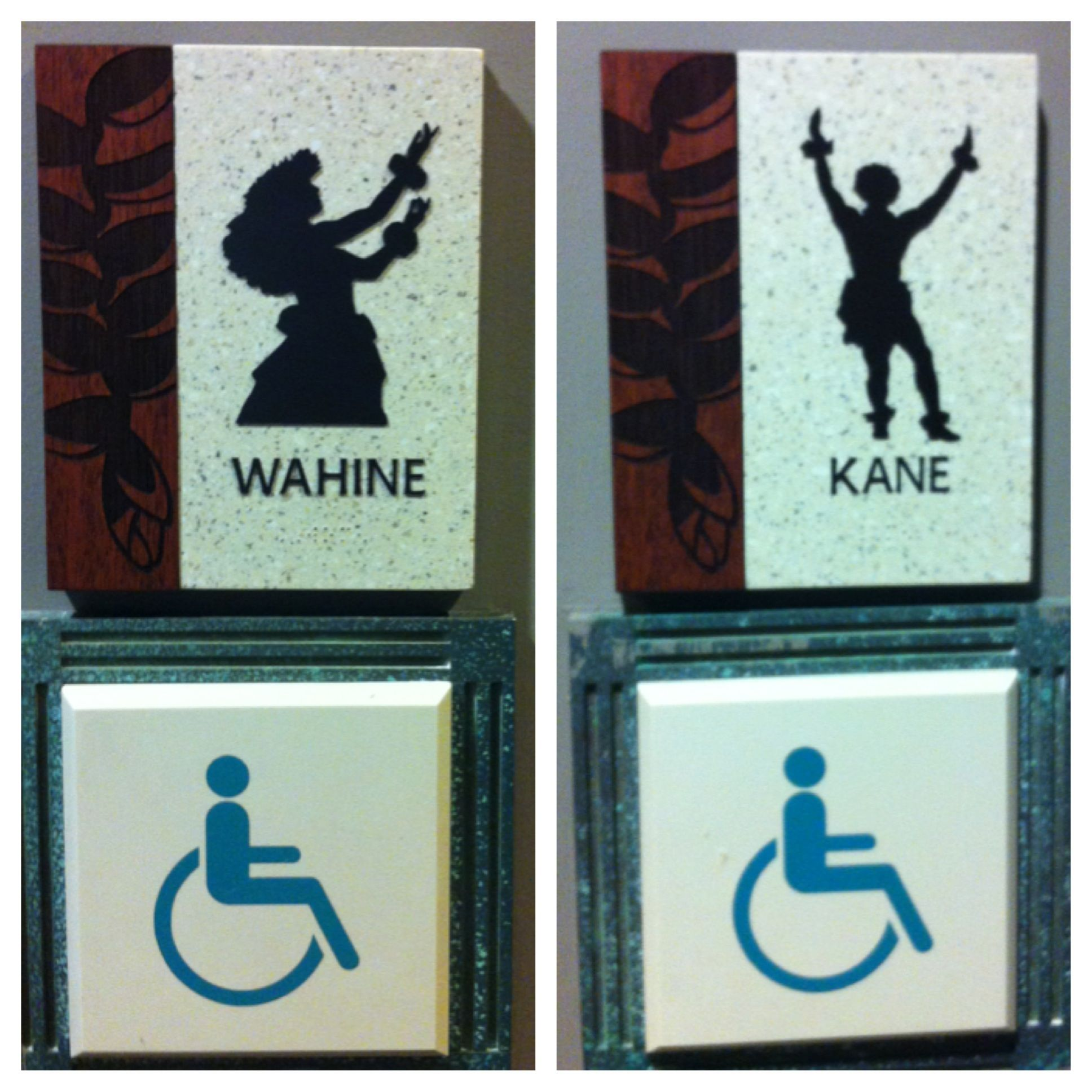 Bathroom signs in Waikiki | Bathroom signs, Waikiki ...