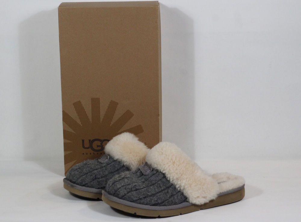 ca318019c61 Authentic UGG Cozy Knit Slipper Grey US Women's Size 8 #fashion ...