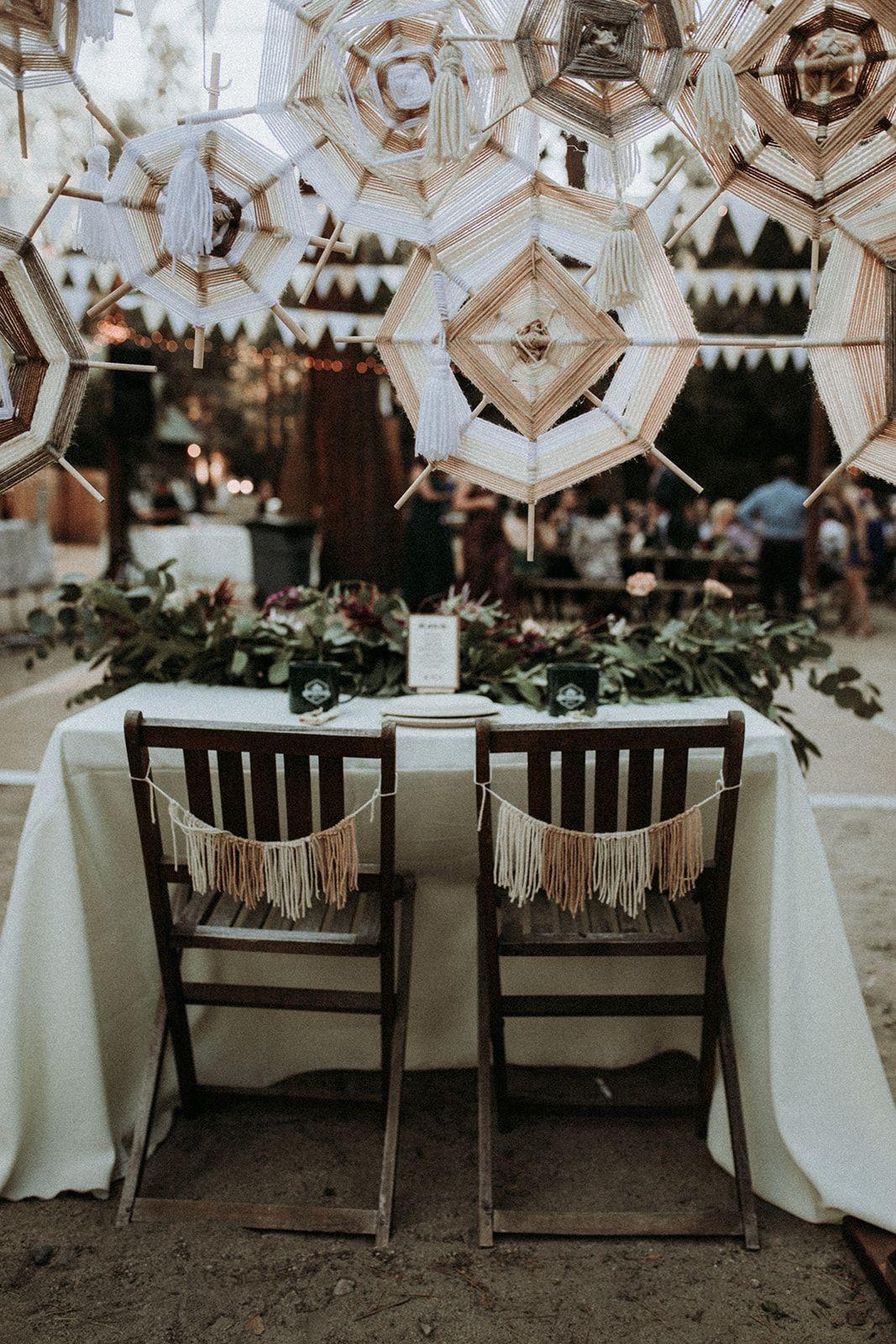 A Summer Camp Themed Wedding In Big Bear Wedding Decorations