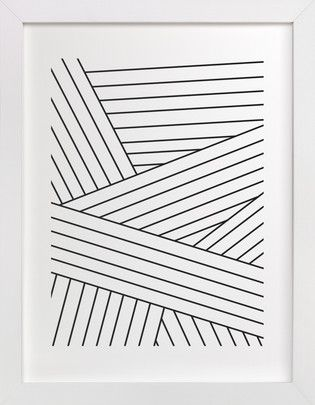 Tension (Portrait)    Minimal Black Lines Art Print Geometric - print lines on paper