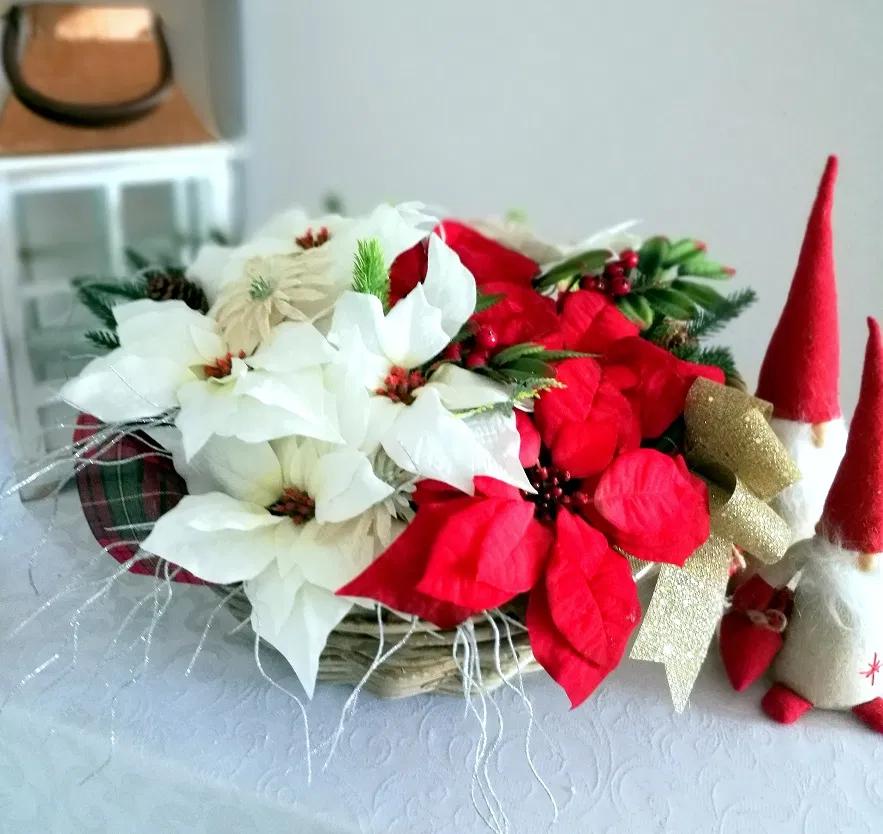 Gwiazda Betlejemska W Koszu Nr 266 Swiateczne Atelier Holiday Decor Christmas Wreaths Decor