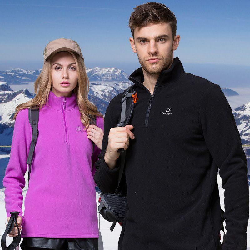 a1edce7e7141a Hommes de Femmes D'hiver Polaire Softshell Veste En Plein Air Sport ...