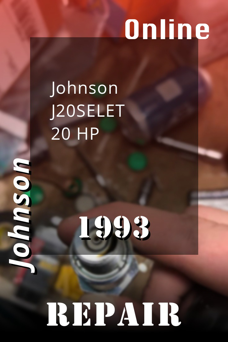 1993 J20selet Johnson 20hp Outboard Motor Service Manual Download Repair Manuals 300hp Diy Repair