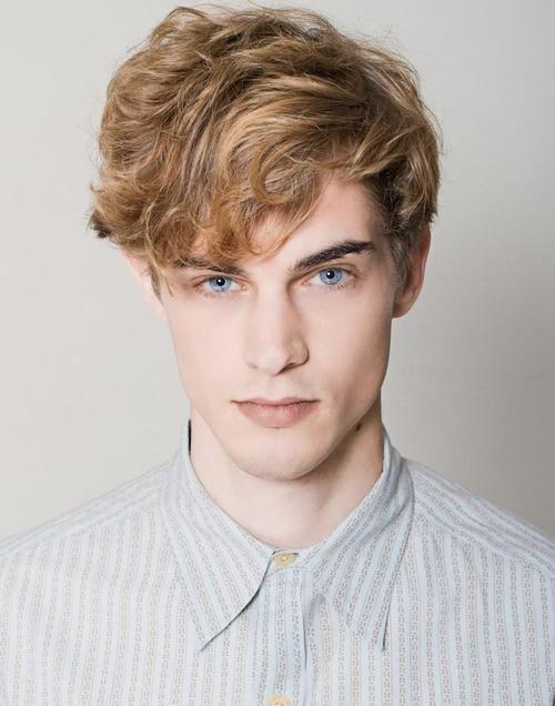 Deep Blue Eyes Curly Hair Men Men Blonde Hair Blonde Male Models