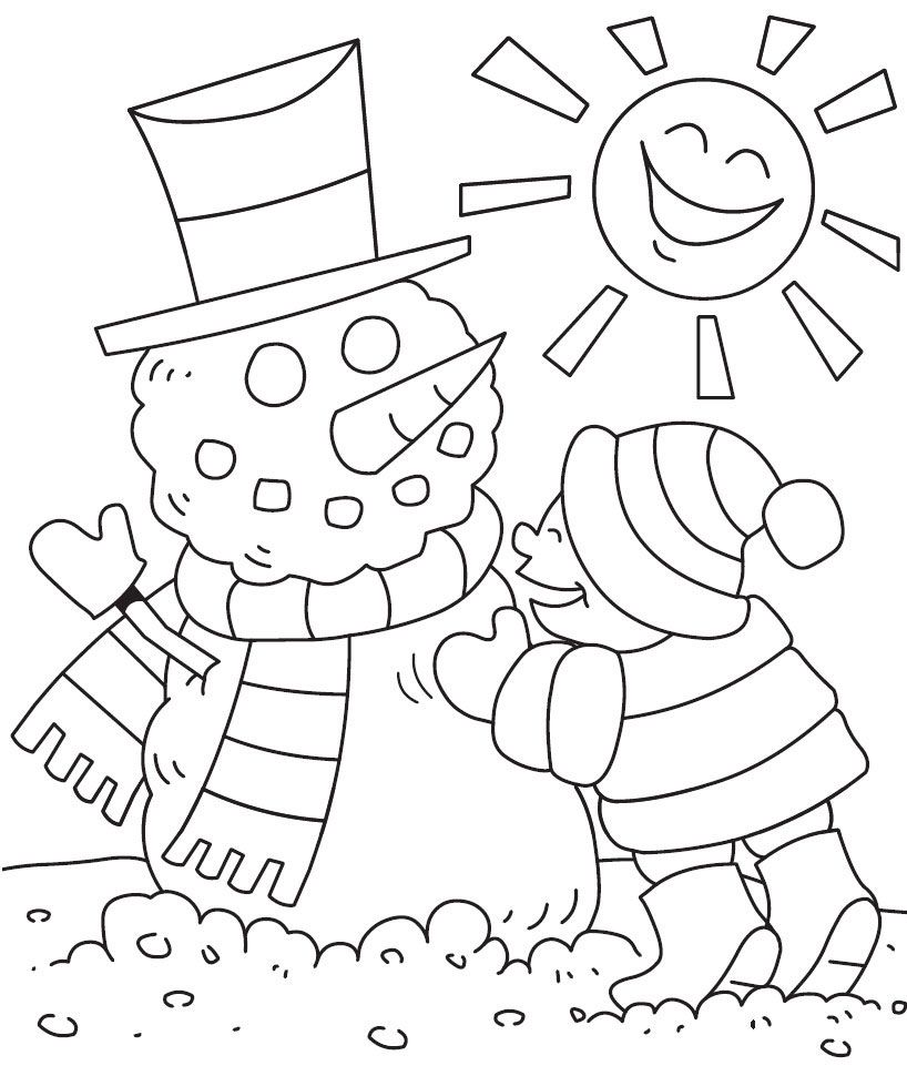 Winter Coloring Page Print Winter Pictures To Color At