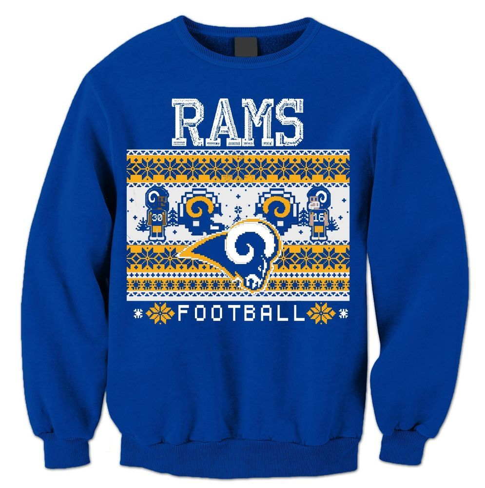 Details About Ugly Christmas Sweater La Rams Mens And Womens