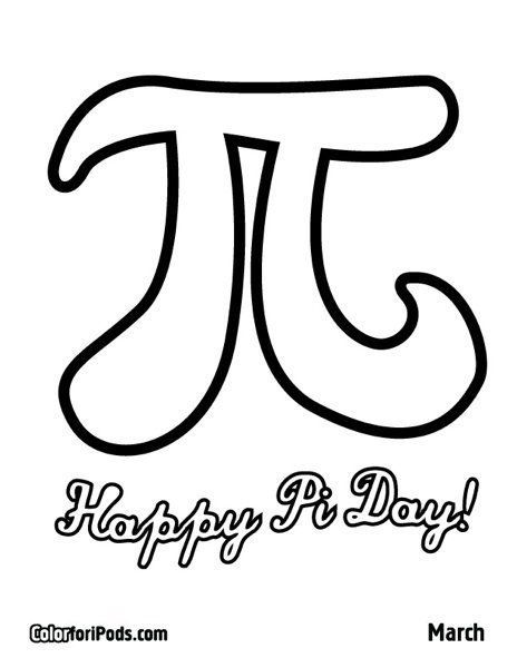 Free Coloring Pages Happy Pi Day Pi Day Coloring Pages