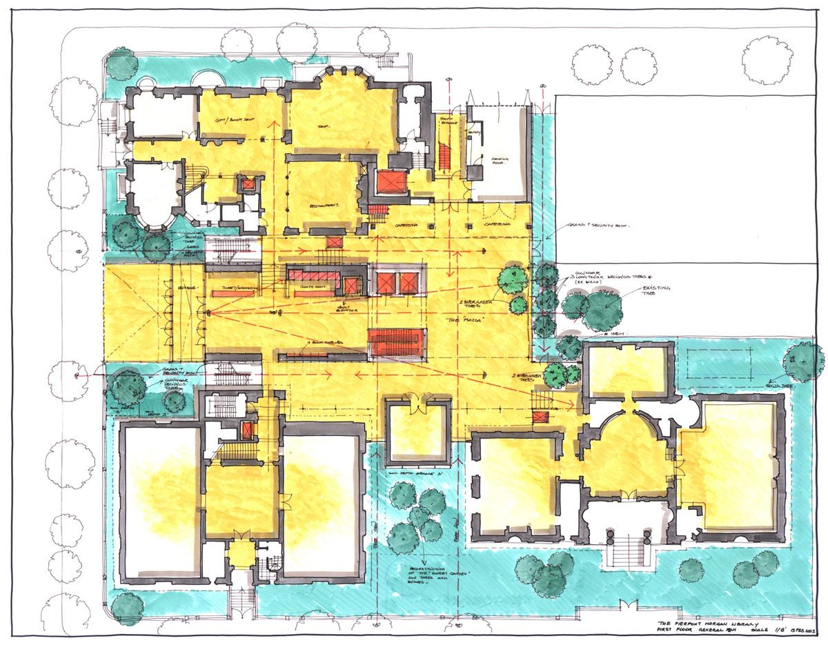 Renzo Piano Morgan Library Expansion Rendered Floor Plan Renzo