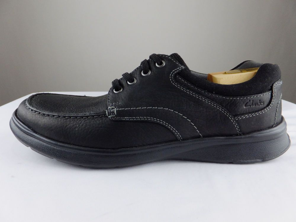 Mens Clarks Cotrell Edge Black Or Brown Oily Leather Casual Lace Up Shoes