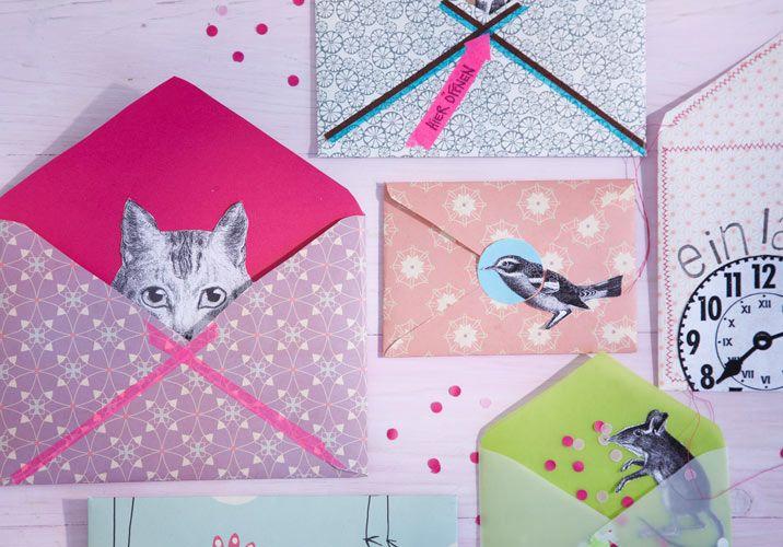 do it yourself briefumschl ge gestalten pen pal mails. Black Bedroom Furniture Sets. Home Design Ideas