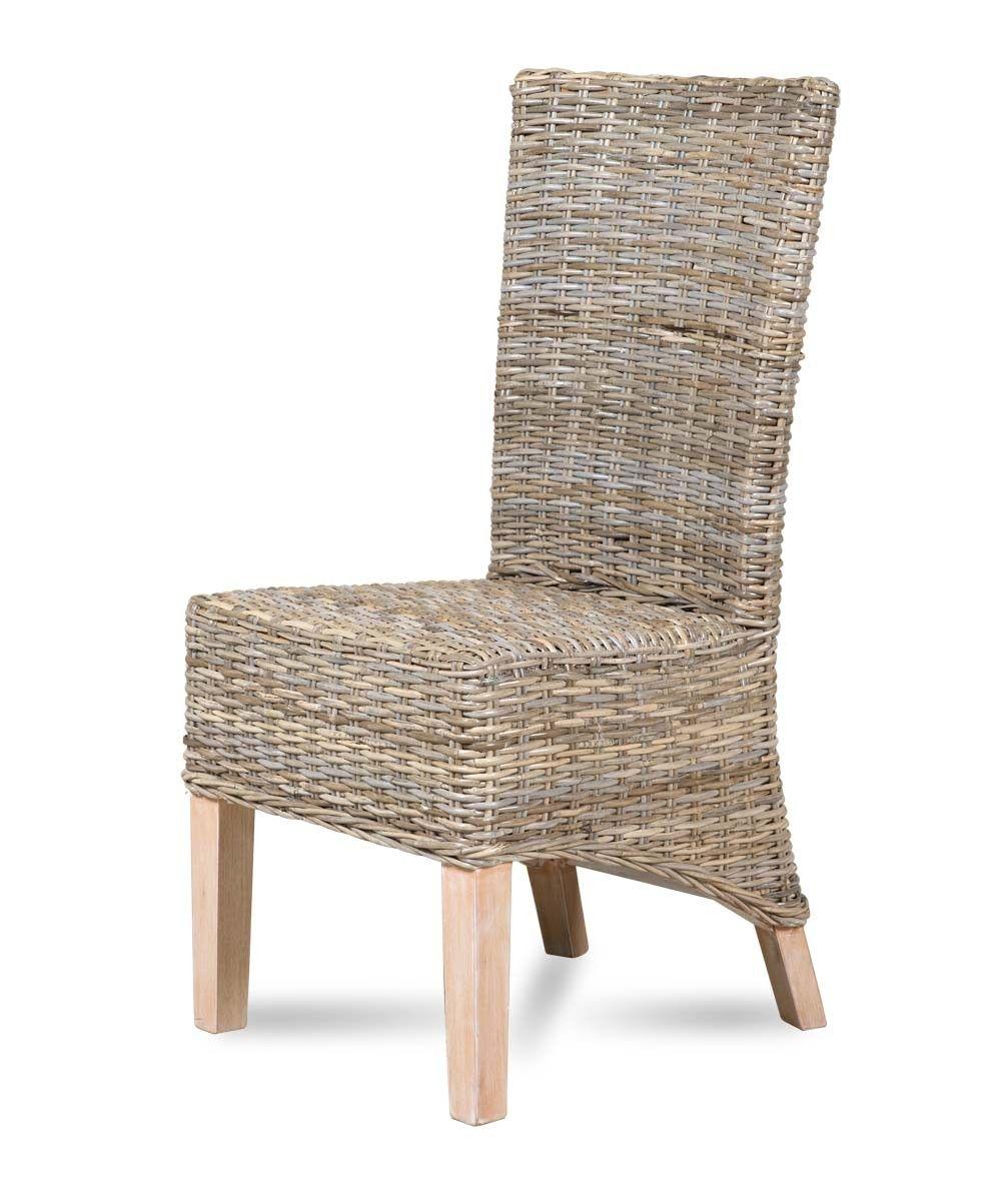 Kubu Rattan Dining Chair Whitewashed Leg Rattan Dining Chairs