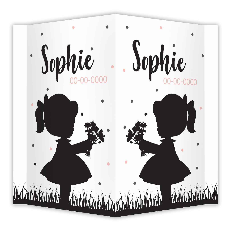 6682ba2faa9 Leuke silhouet meisje met bloemen in haar hand op hippe ...