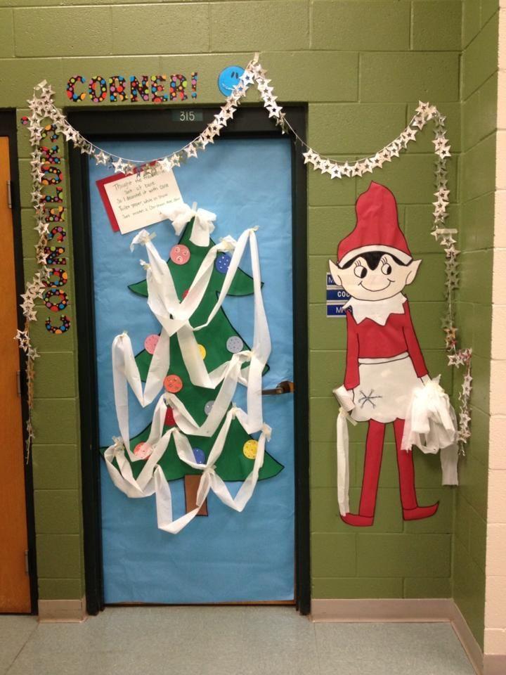 Tinsel Got A Little Crazy With Our Classroom Door Door