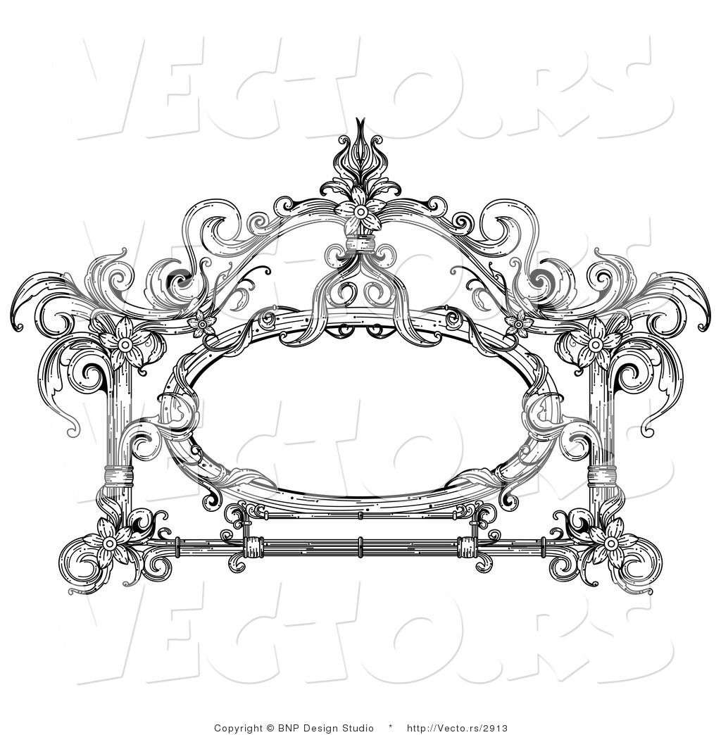 Images Of Vector Vintage Black And White Victorian Frame Design By