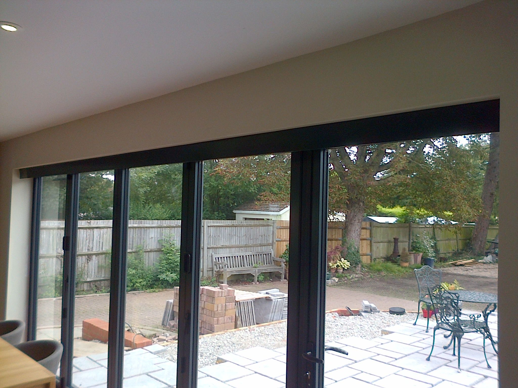Blinds concealed by a matching pelmet home pinterest for Door roller blinds