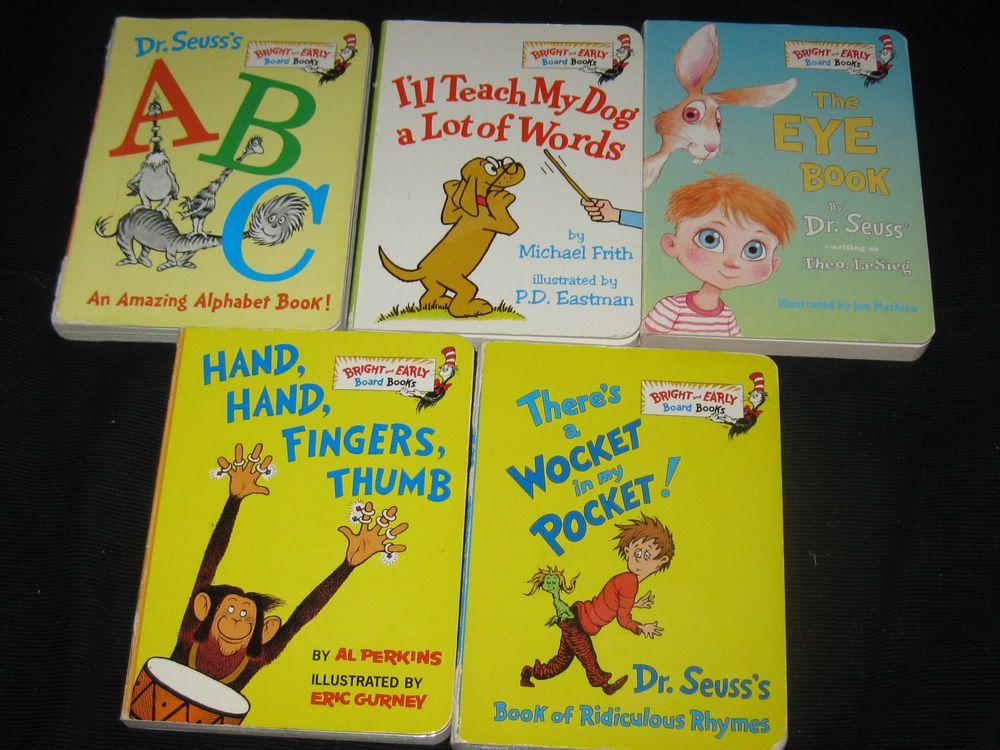 Dr seuss board book toy lot baby daycare preschool