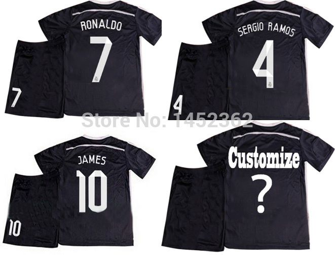 Find More Sports Jerseys Information about Hot 14 15 real madrid home Black  kids   f537d1a41