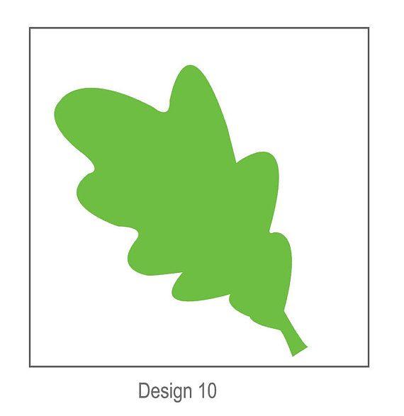 SVG Digital Leaf Template 10 Cricut and Silhouette Ready CLIP - leaf template