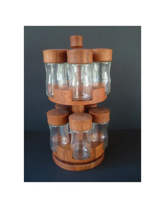 Woodworking Plans For Kitchen Spice Rack: Amazing Digsmed Teak Lazy Susan Spice Rack/ By