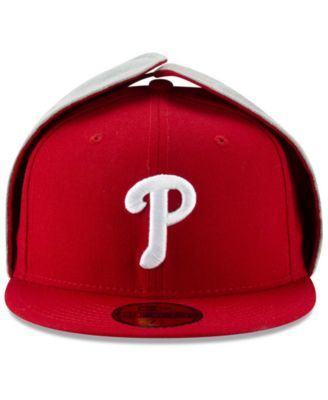the latest 3c109 a17f6 New Era Philadelphia Phillies Team Color Dogear 59FIFTY-fitted Cap - Red 7 1  8