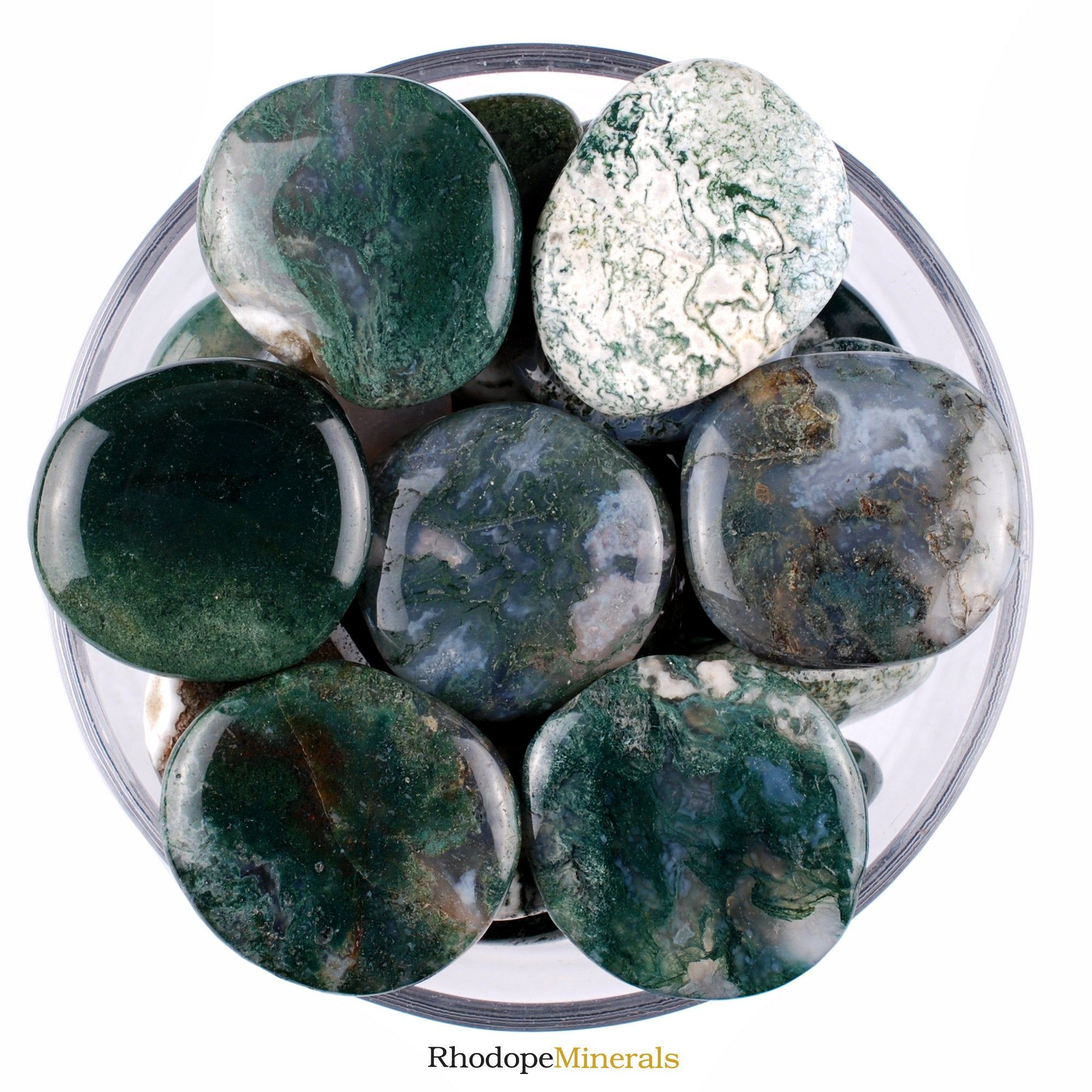 One 1 Moss Agate Smooth Stone Moss Agate Palm Stone Moss Agate Smooth Stones Moss Agate Palm Stones Moss Agate Smooth Stones Moss Agate In 2020 Moss Agate Stone Agate