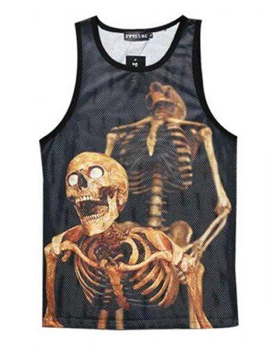 b4ed835ca386b 3D skull skeleton tank top for men cool vest sleeveless design ...