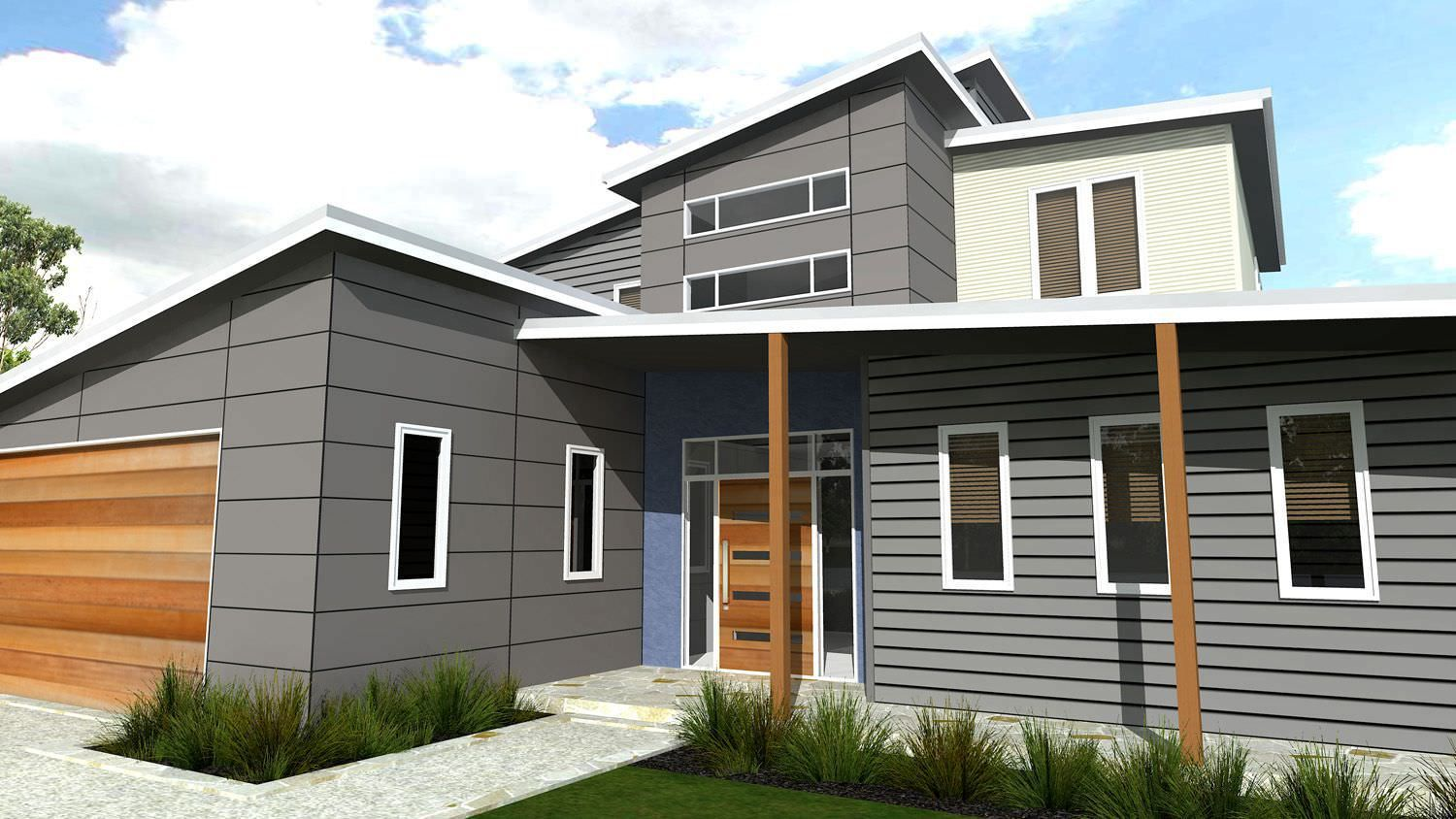 Design of march 2013 modern kit home picture of skillion roof modern contemporary and two storey