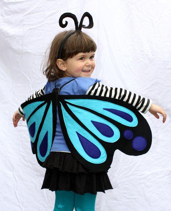 Girls Kids Fairy Wings Butterfly Fancy Dress Costume Party Wedding Butterfly UK
