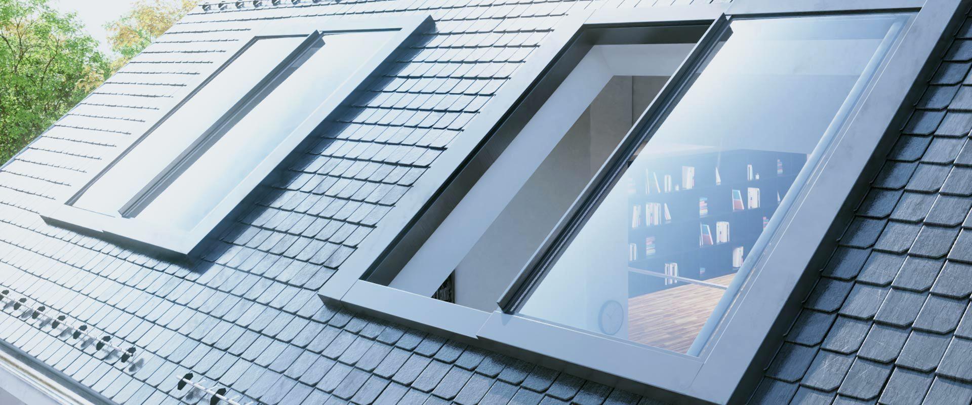 Fenster Dach Dachausstieg S25 Auaenansicht Dachfenster S15 Innenansicht S10 Dachfirst Dachgeschoss Rollos Dachschrage Preis