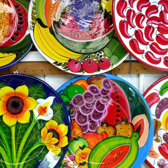 Talavera cer mica de talavera m xico y cer mica - Platos ceramica colores ...