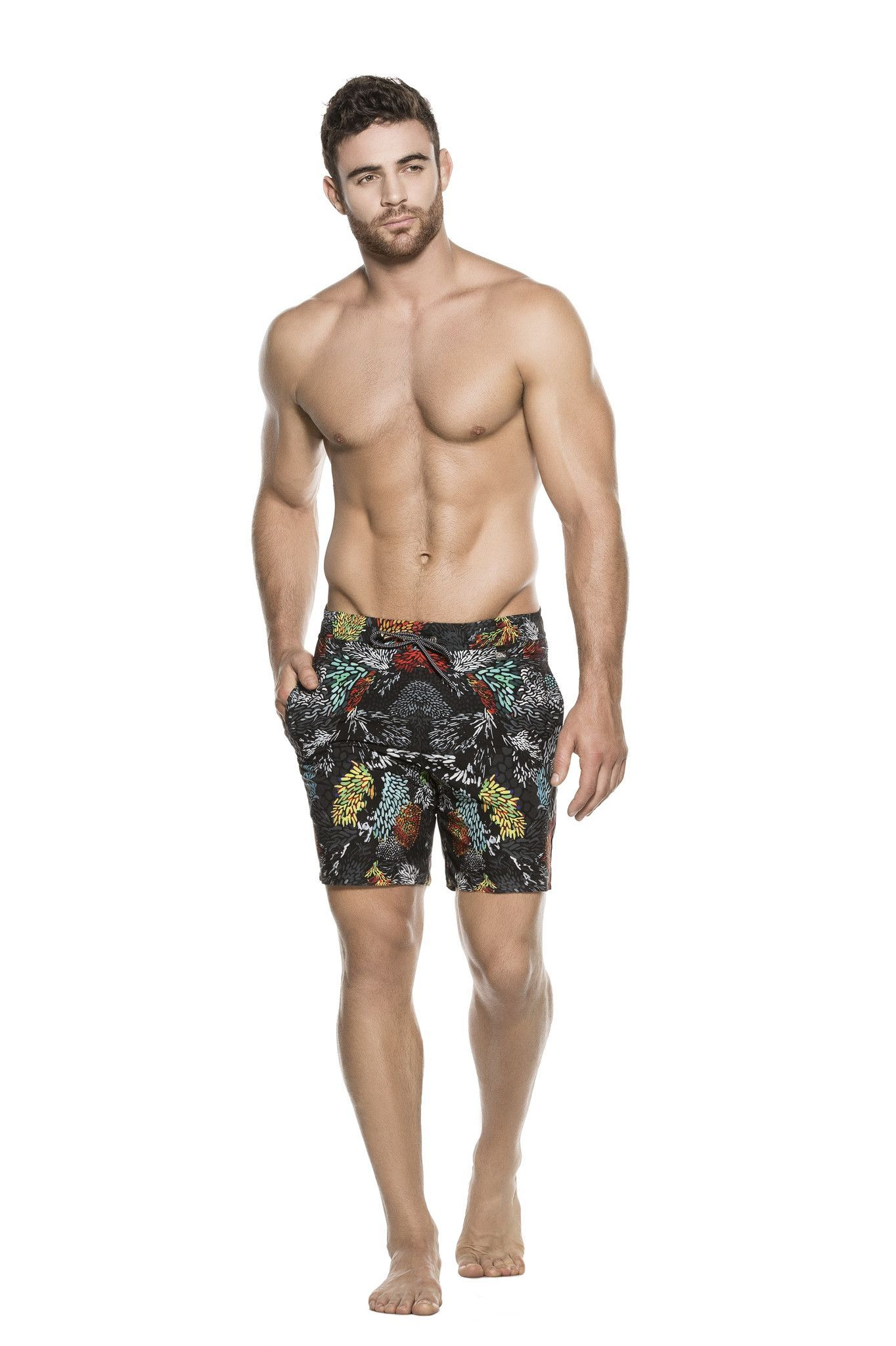Agua Bendita - Mens Designer Swim Trunk – Agua Bendita Swimwear knows how  to make a mens designer swim trunk. The Leoo swim short features a modern  print ... ef9e339d849