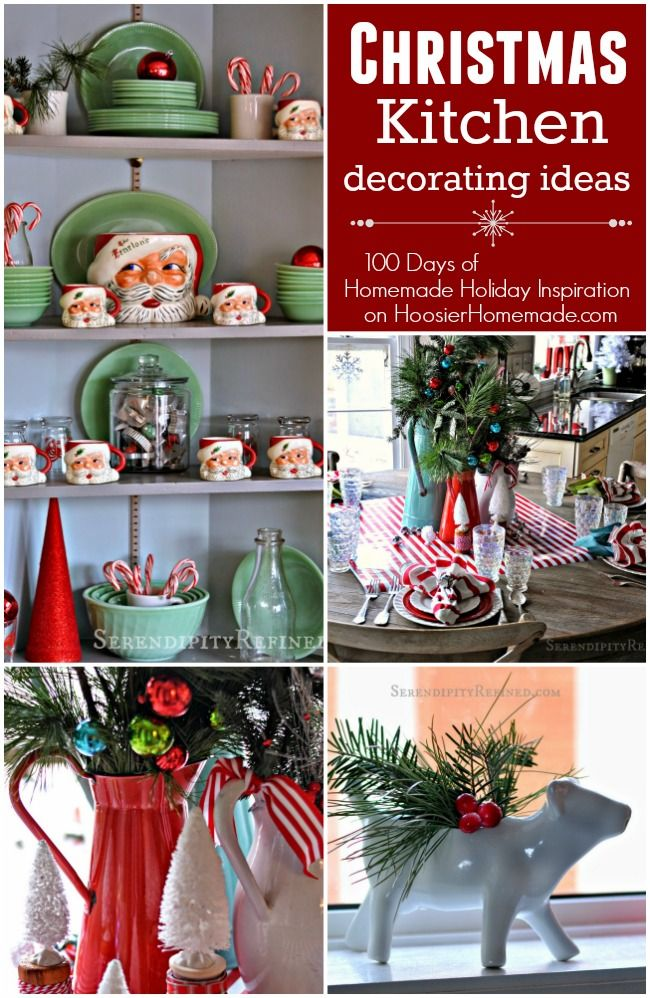 These Christmas Kitchen Decorating Ideas will brighten your home for