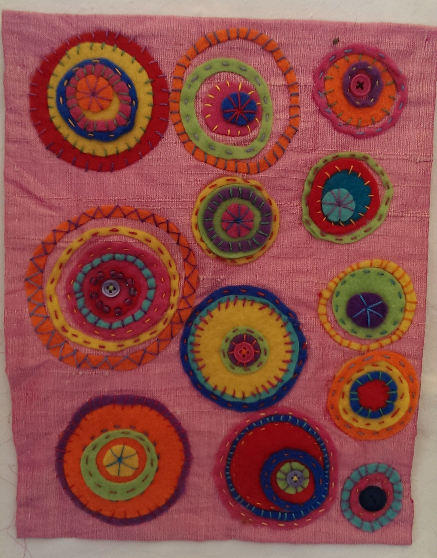 Embroidery created by participants on an ArtEd course at Cinderford Artspace.  Gloucestershire Resource Centre http://www.grcltd.org/scrapstore/