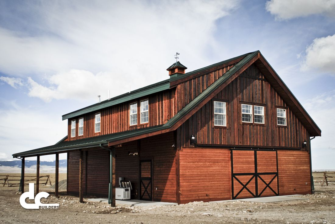 Pole barns with living quarters barns with living for Barn home builders