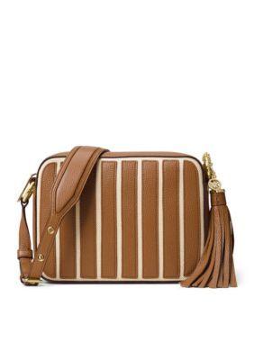 168d41272a0e MICHAEL Michael Kors Applique Strip Canvas Brooklyn Large Camera Bag ...