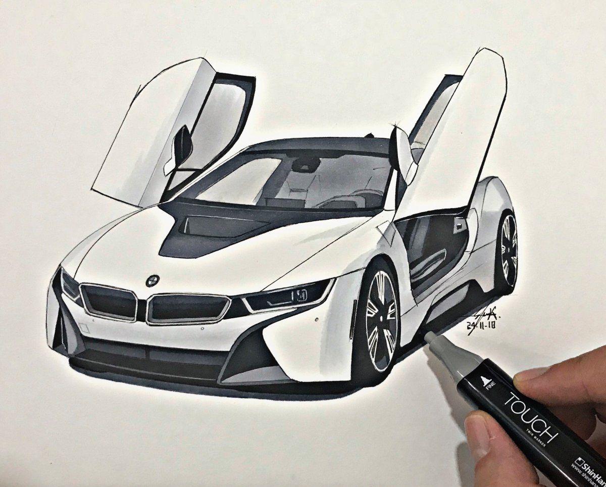 Bmw I8 Elieautodesign Car Drawings Bmw Art Bmw I8
