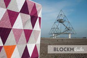 bloco M colchas: Porcupine Parque triângulo quilt