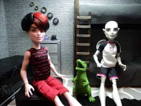 Doll Crafts | How to Make a Monster High Doll Boy Bedroom