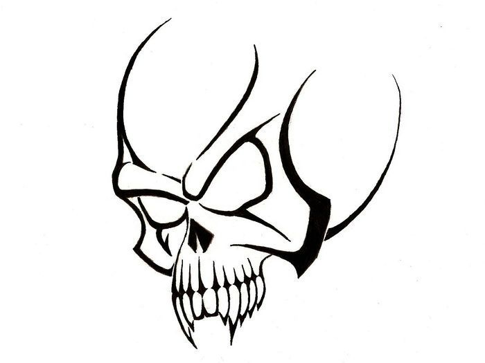 30 Best Classified Info About Tattoo Designs Drawings Only The Pros Know About Tribal Skull Simple Skull Skull Sketch