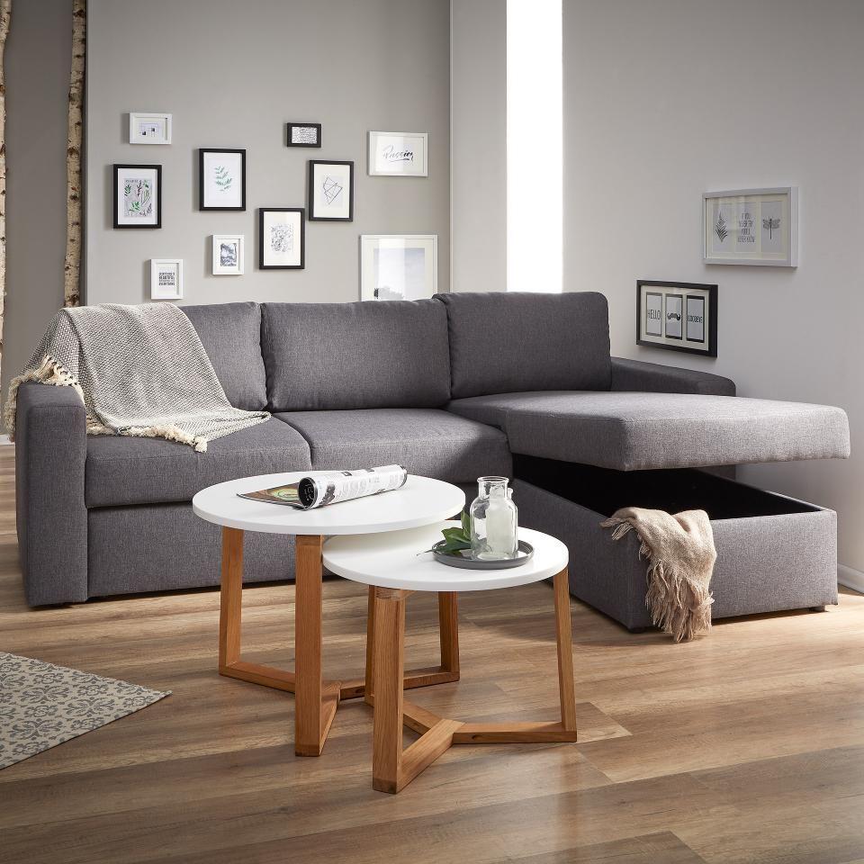 Modernes Ecksofa Mit Grauem Stoffbezug Preiswert Danisches Bettenlager Ecksofa Sofa Haus