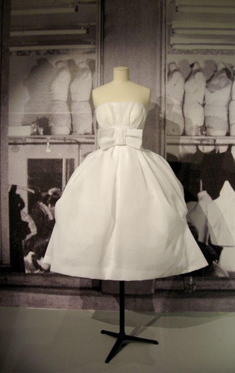 1950\'s Christian Dior White Bow Party Dress~ | Fashion ~ Vintage ...