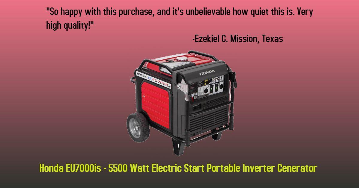 Honda Eu7000is Eu7000is 5500 Watt Electric Start Portable Inverter Generator Carb Portable Inverter Generator Honda Oil Honda