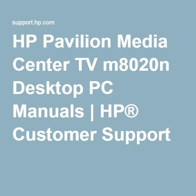 hp tv manuals