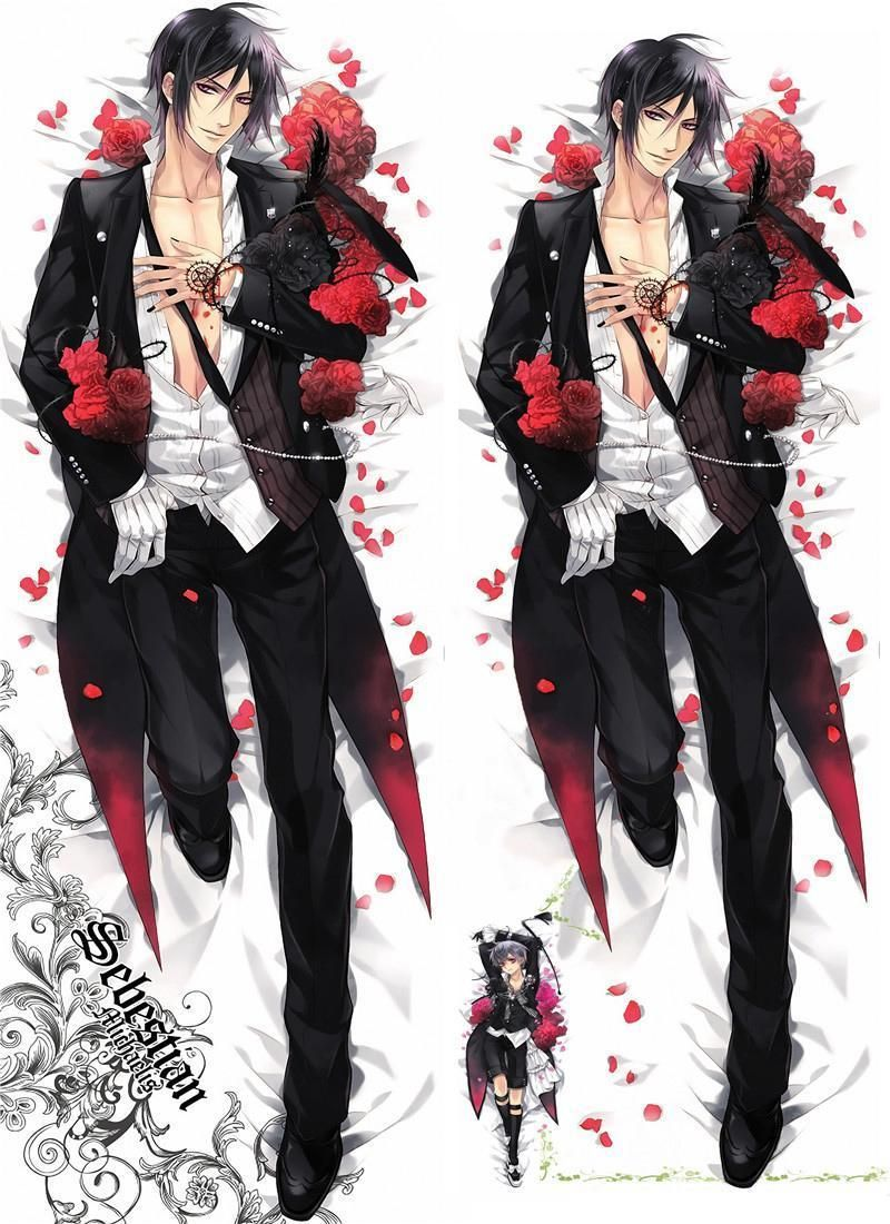 Black Butler Kuroshitsuji Dakimakura Anime Hugging Body Pillows Case Cover