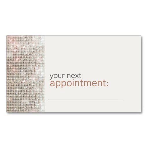 Modern And Hip Business Sequin Appointment Card 1 Business Card