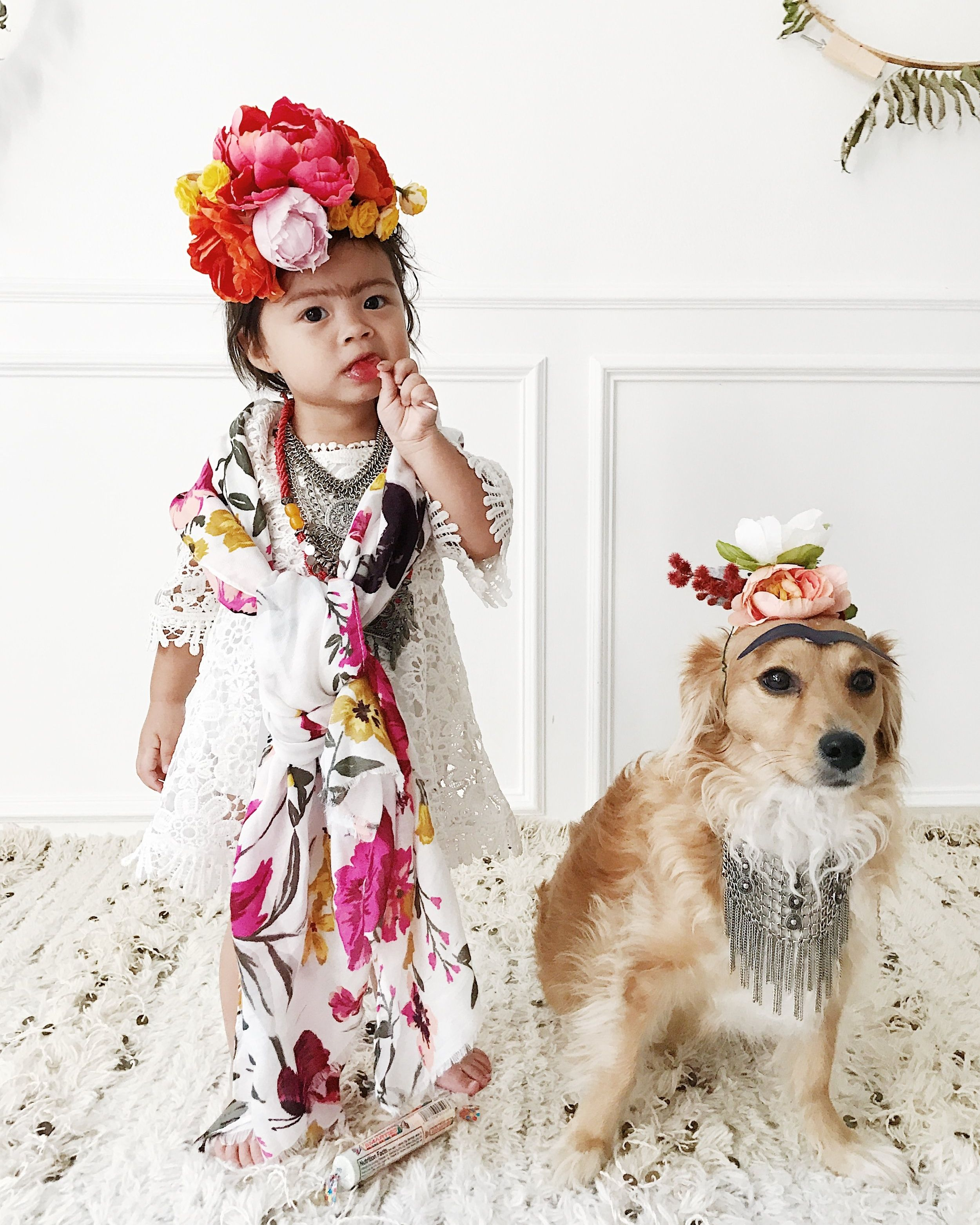 Diy Frida Kahlo Kids Costume Plus Diy Silk Flower Crown With