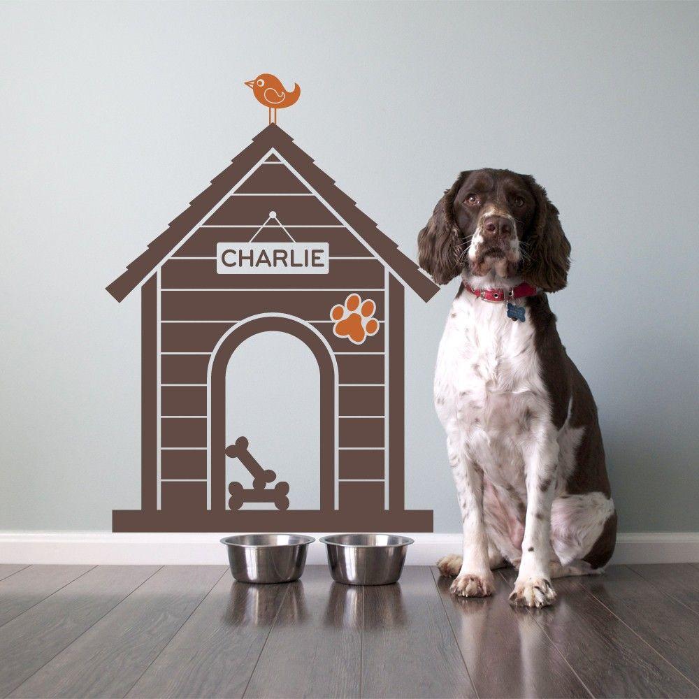 Dog House Vinyl Wall Decal Sticker Size Medium Via Etsy - Custom vinyl wall decals dogs