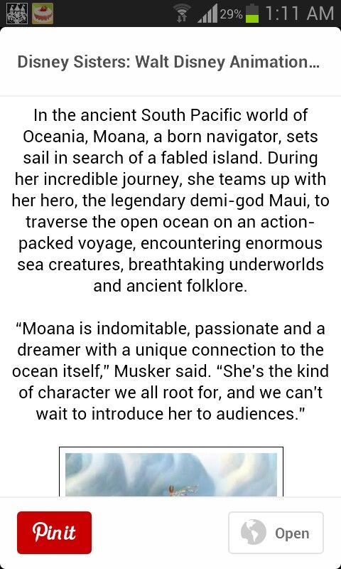"LOOK!!!! ""...She teams up with her hero (and also mine), the legendary demi-god Maui..."""
