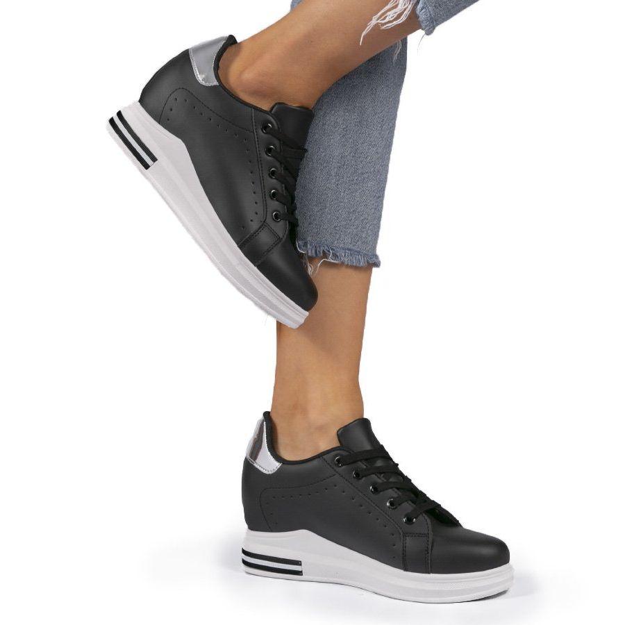 Czarne Sneakersy Na Koturnie My 0366 In 2021 Air Max Sneakers Nike Air Max Sneakers Nike