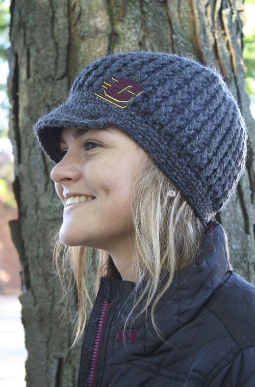 d247824aa0f6a4 Charcoal Central Michigan Knit Hat With Bill | Brrr..It's Cold ...
